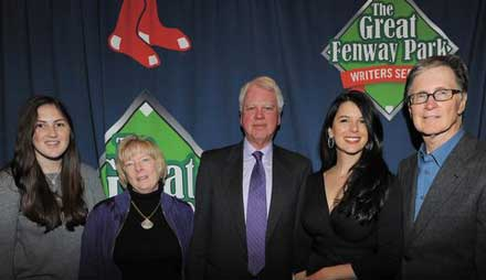 Bob and Elaine Ryan with Red Sox owner John Henry, wife Linda Pizzuti, and John's daughter, Sarah, at the sold out Writers Series dinner tribute.