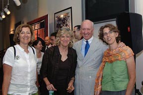 Writers Series Chairman George Mitrovich with Ellen Goodman, columnist for the Boston Globe, Lynn Sherr of ABC's 20/20, and Dr. Juliet Schor, chairman of the Sociology Department at Boston College. All were present at Fenway to hear Mr. Justice Breyer speak.