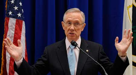 United States Majority Leader Harry Reid as keynote speaker at the Writers Series luncheon on Capitol Hill.