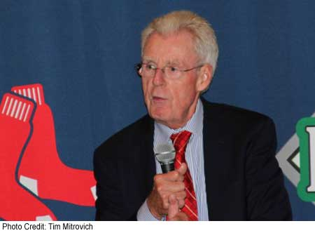 "Peter Gammons, the great baseball reporter and fan favorite, at the ""Fenway Park in My Life"" event."