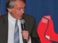 "Congressman Ed Markey saying, ""In Boston you're born a Red Sox fan and six days later you are baptized."""