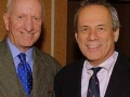Writers Series Chairman George Mitrovich and Red Sox President & CEO Larry Lucchino at the Jane Leavy dinner January 28.