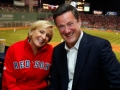 "Mika Brzezinski and Joe Scarborough of MSNBC's ""The Morning Joe Show"" at Fenway after speaking to The Writers Series dinner on opening night."