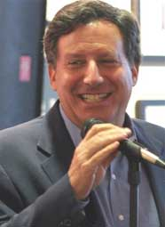 Red Sox Chairman Tom Werner introduces Dr. Andrew Zimbalist at the Writers Series.